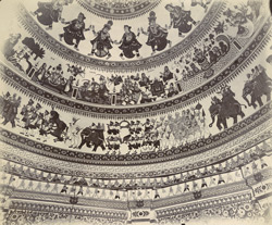 Interior of the dome of Swami Narayan's temple [Junagadh] 2656